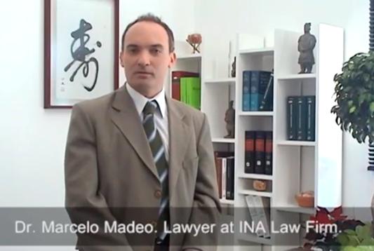 Dr. Marcelo Madeo. Abogado del Estudio INA.
